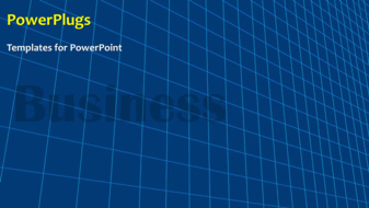 PowerPoint template displaying abstract business background